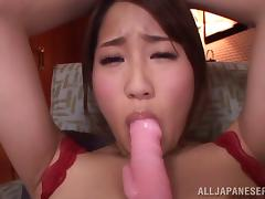 Pussy fingering and dildo banging with a Japanese hot slut chick Yui Hatano