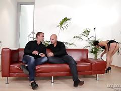 mira gets fucked by two sexy blokes @ dp the nanny with me #02