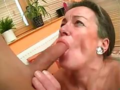 Hairy Granny Drilled By Young Cock BVR