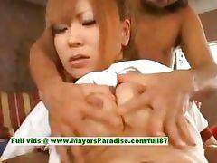 Japanese AV girl is teased by her loverboy