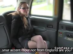Tattooed busty amateur bangs in taxi euro voyeur