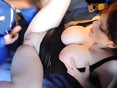 exhibe couple fuck outdoor, huge tits