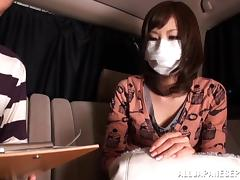 Fooling around in the back seat with a Japanese cutie