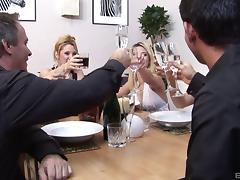 Older kinky men fuck slutty trophy wives in their assholes