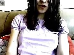 bewitching  immature with astonishing snatch caught on chatroulette