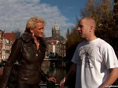 A guy from Poland is treated to an Amsterdam hooker