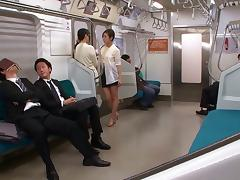 Japanese cock sucking sluts love getting nasty in public transport