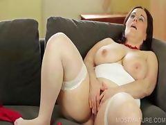 Nasty mommy dildo fucking cunt