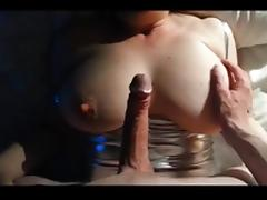 Big tit wife blindfolded