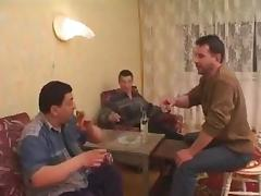 Stepdad comes home and joins in the fucking !