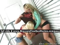 Two blonde sluts in public