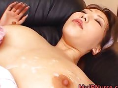 Ai Sayama Pretty Asian nurse shows off