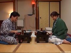 Kimono girl with marvelous curves has hardcore sex