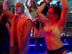 Night club full of hot sluts that love big stripper cock