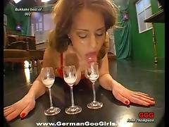 Facial and bukkake compilation with lovely German girls