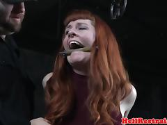 Analhook tiedup submissive caned in dungeon