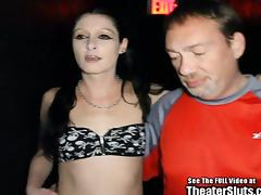 Pale Petite Anal Whore Gang Fucked In Porno Theater
