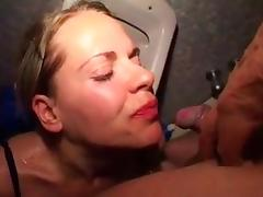 Piss and cum drinking