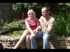 British wife MFF threesome with hubby and MILF