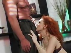 Dirty Talking Red Head Anal Slut Fucks