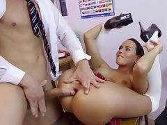 Extreme classroom porn play along schoolgirl Mea Melone