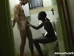 Amateur African Girl Gets Fucked In The Bathroom!