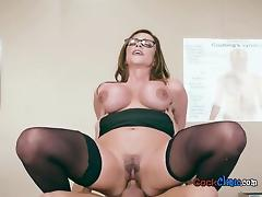 Luscious Doctor Ariella Ferrera Straddles Her Patient