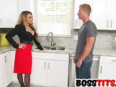Freaky big tits boss Corinna Blake