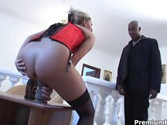Patricia gets rammed by huge black