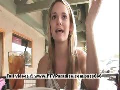 Sara lovely amateur blonde woman talking