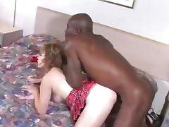 she sucks and fucks a long black cock