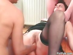 Mature slut enjoys in hot fisting part5