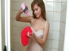 Intimate hygiene and shower masturbate