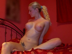 Super hot blonde with enormous tits and a tight ass picked up on the street and fucked
