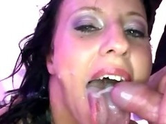 Bukkake fetish euro slut fuck suck and facials