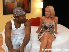 Hot Blonde Screwed By Black Cock