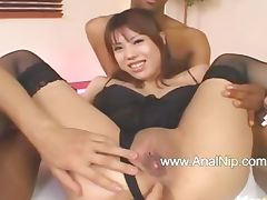 Asian ass dildoed hardly