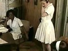 Lesbian Afro Nurse Interracial