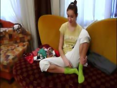 Homemade girlfriend Natasha at hotel