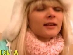 luxury russian winter blowjob