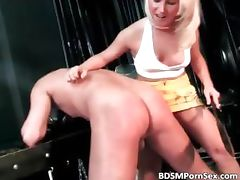 Hot and painful fun with horny blonde part6