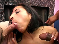 Bad English Speaking Latin Amateur Girl Has Good two Cock Fucking Skills Allowing Her Hairy Pubes to be Used