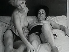Mature and Granny Lesbians in Bed 1950
