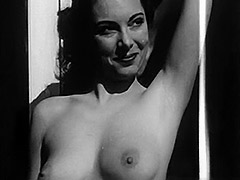 Marvelous Girl Posing and Showing Boobs 1950
