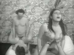Nasty Anal Swinger Foursome 1960
