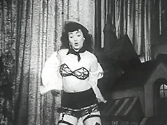 Dancing Teen to Shows Her Lingerie 1950