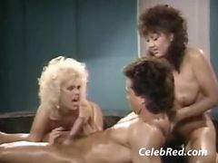 Peter North With Amber Lynn And Tiffany Storm