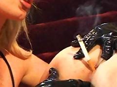 Taylor Wane lesbian domination and smoking