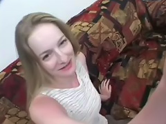 Casting audition creampie sex of Blonde petite Skinny Teen with Hairy Pussy