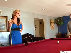 Lovely blond Nikki is having sex after a long date